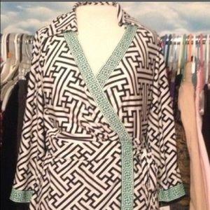 Sandra Darren Multi Color Pattern Dress